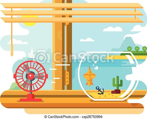Davanzale prossimo finestra ventilatore acquario for Acquario aperto