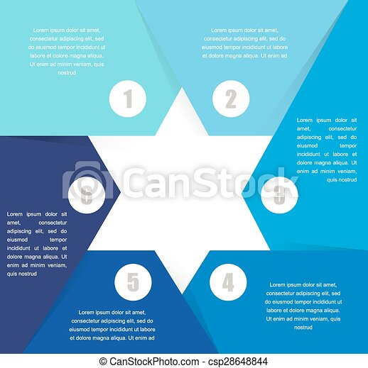 David Star design template and infographics, abstract background - csp28648844