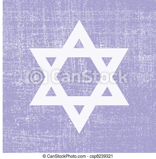 david star on grunge background, vector illustration - csp8239321
