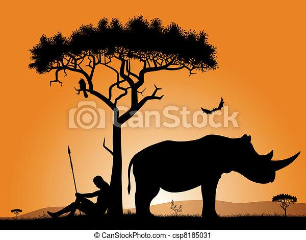 Dawn in Africa - csp8185031