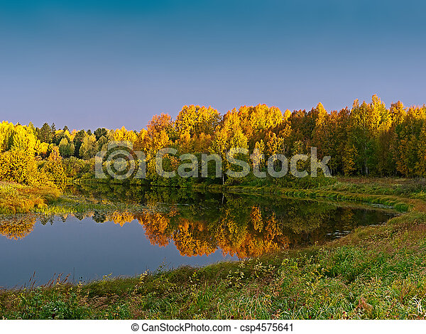 Dawn over the lake - csp4575641