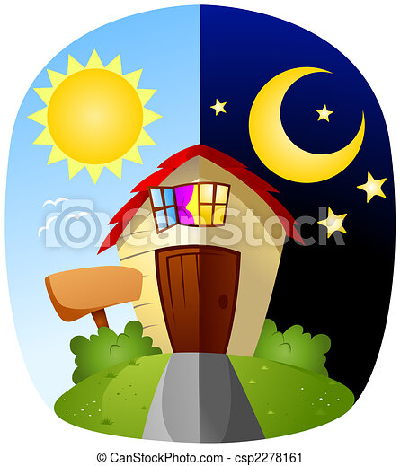 day and night rh canstockphoto com clipart day and night clipart day and night
