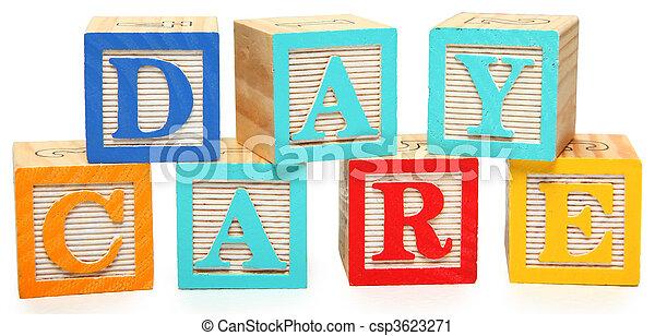 Day Care in Alphabet Blocks - csp3623271