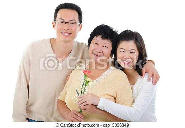 day., celebra, famiglia asiatica, madri - csp13036349
