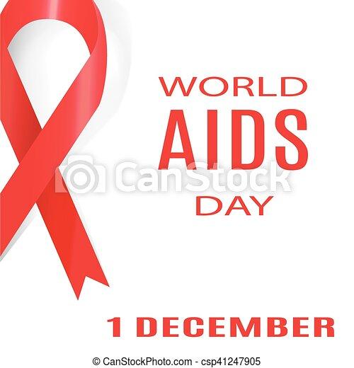 day., december., illustration., 1, vektor, welt, aids - csp41247905