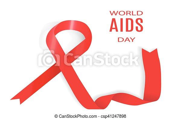 day., december., illustration., 1, vektor, welt, aids - csp41247898