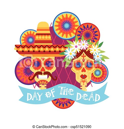 Day of dead traditional mexican halloween dia de los muertos holiday day of dead traditional mexican halloween dia de los muertos holiday party decoration banner invitation stopboris Image collections