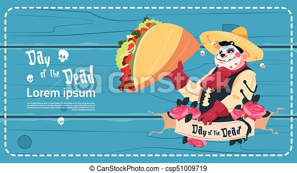 Day of dead traditional mexican halloween holiday party decoration day of dead traditional mexican halloween holiday party decoration banner invitation csp51009719 stopboris Image collections