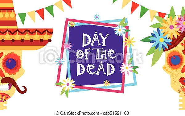 Day of dead traditional mexican halloween dia de los muertos day of dead traditional mexican halloween dia de los muertos holiday party decoration banner invitation stopboris Images