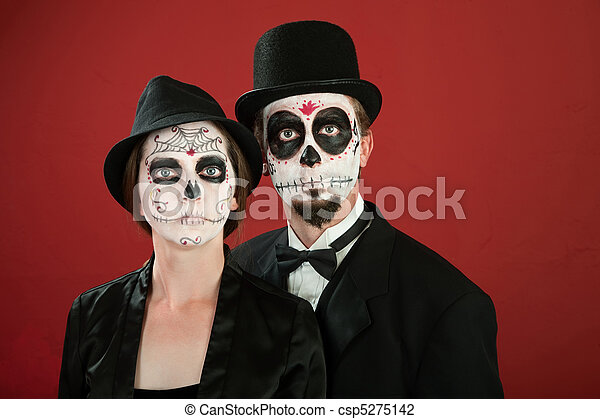 Day of the Dead Couple - csp5275142
