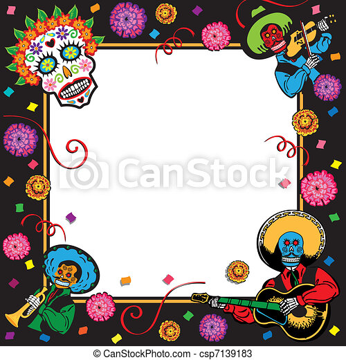 Day of the Dead Party Invitation - csp7139183