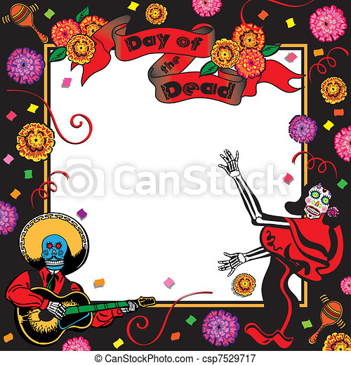 Day of the Dead Party Invitation - csp7529717