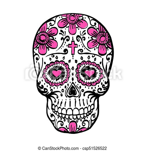 Day Of The Dead Skull Sketch