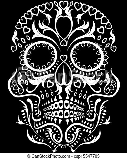 day of the dead skull rh canstockphoto com day of the dead vector art free day of the dead skull vector