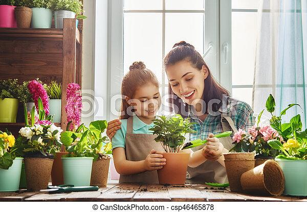 day., printemps, famille, heureux - csp46465878