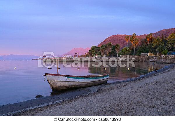 Daybreak on Lake Chapala Shores - csp8843998
