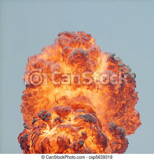 Daylight Explosion - csp5639319