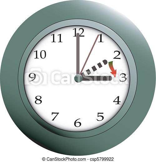 Daylight saving - csp5799922