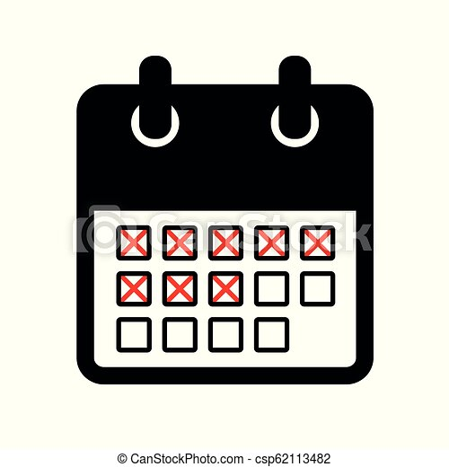 Calendar Days Icon.Days Count In The Calendar Icon Pictogram
