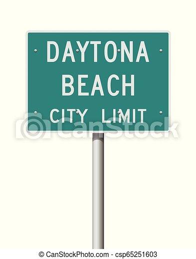 Daytona Beach City Limit road sign - csp65251603