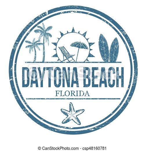 Daytona Beach sign or stamp - csp48160781