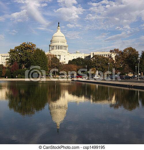 dc., 華盛頓 國會大廈, 建築物 - csp1499195
