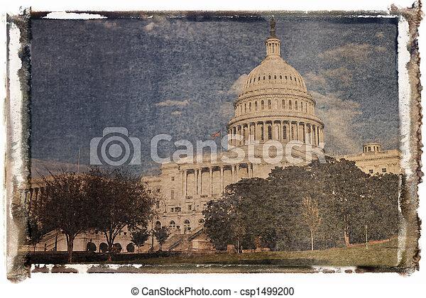 dc., 華盛頓 國會大廈, 建築物 - csp1499200