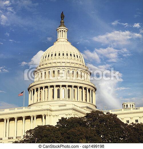 dc., 華盛頓 國會大廈, 建築物 - csp1499198
