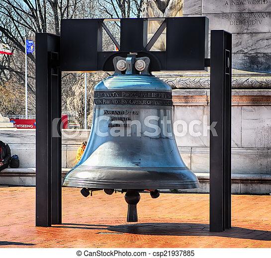 d.c, glocke, gewerkschaft, washington, freiheit, reproduktion, front, station - csp21937885