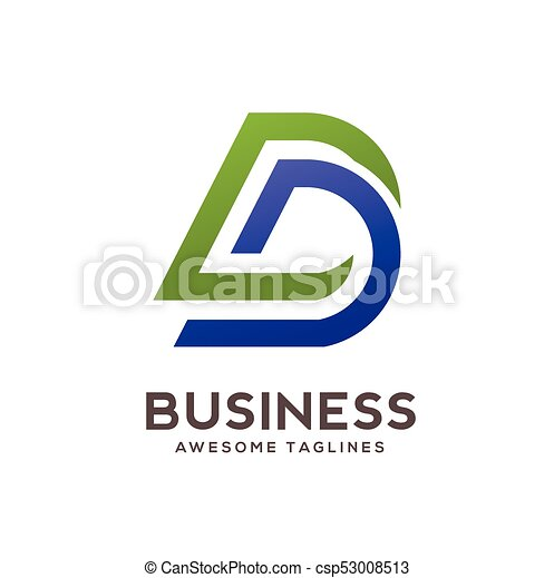Dd letter logo design vector illustration template,d letter logo ...
