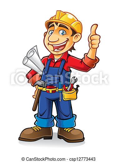 de arbeider van de bouw - csp12773443