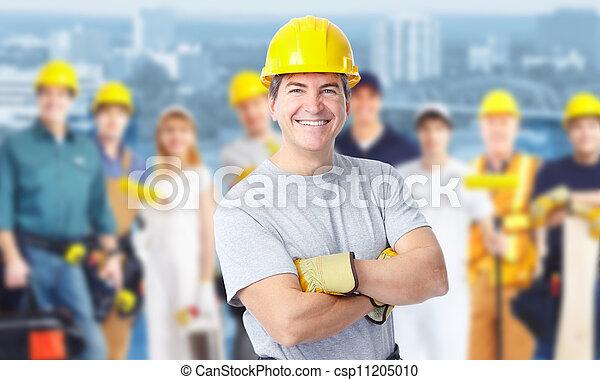 de arbeider van de bouw, man. - csp11205010