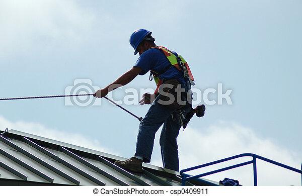 de arbeider van de bouw - csp0409911