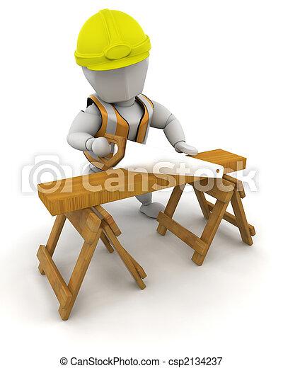 de arbeider van de bouw - csp2134237