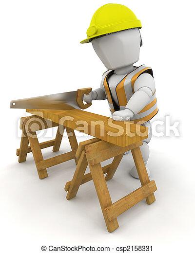 de arbeider van de bouw - csp2158331