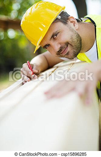 de arbeider van de bouw - csp15896285
