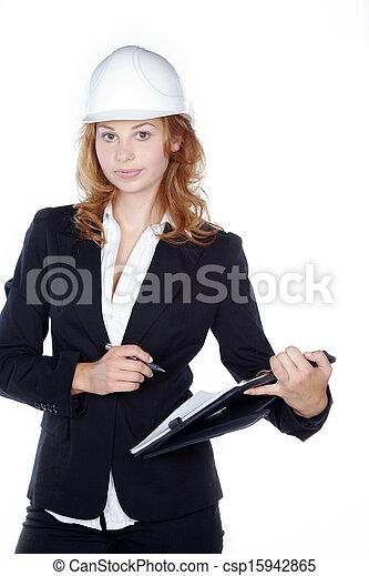 de arbeider van de bouw - csp15942865
