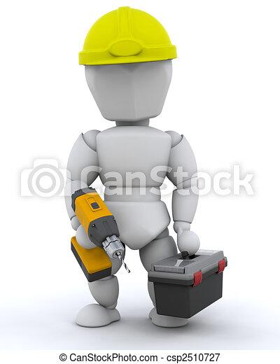 de arbeider van de bouw - csp2510727