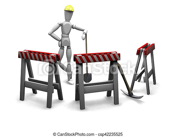 de arbeider van de bouw - csp42235525