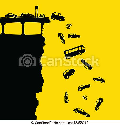 Autopista por el acantilado - csp18858013