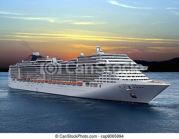 de cruise van het schip - csp9065994