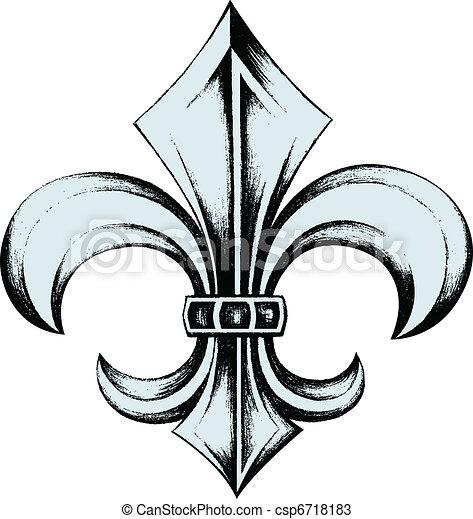 Fleur de lis escudo emblemático - csp6718183