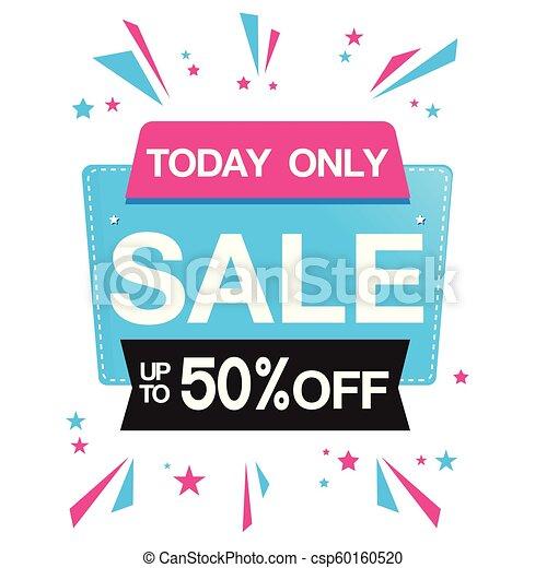 Hoy sólo se vende hasta 50% fuera de la imagen vector de cinta - csp60160520