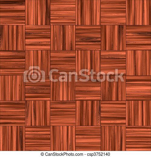 Piso de madera a cuadros - csp3752140