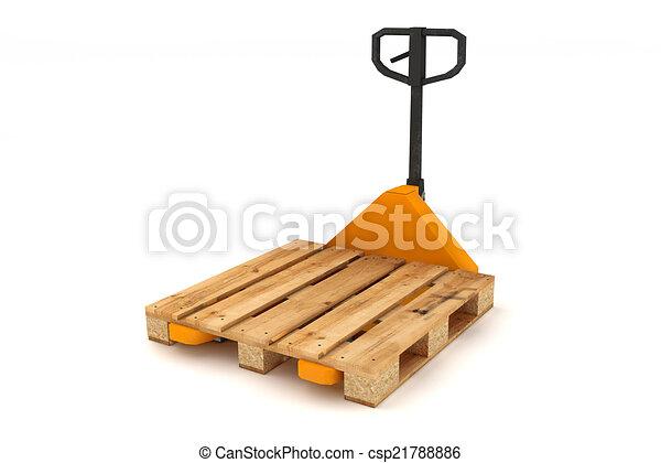 De madera carretilla elevadora pallets mano de madera for Carretilla de mano segunda mano