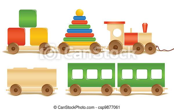 Juguetes de colores de madera - csp9877061