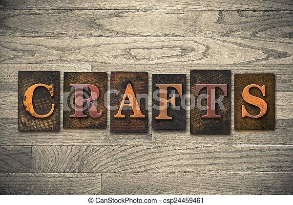 Los artes idean el tipo de letra de madera - csp24459461