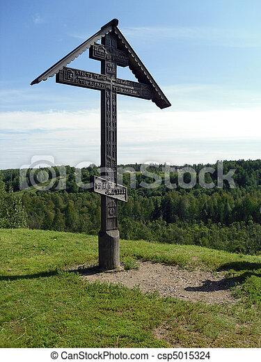 de madera, cruz - csp5015324