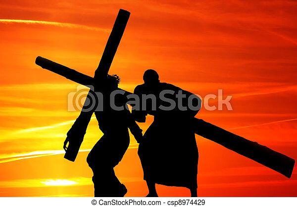 de madera, cruz - csp8974429