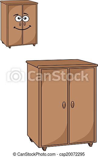 De madera dos alacenas puertas llanura de madera for Mueble vector